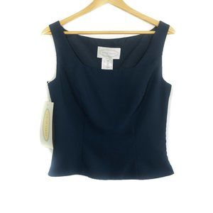 Alfred Angelo Navy Structured Formal Top
